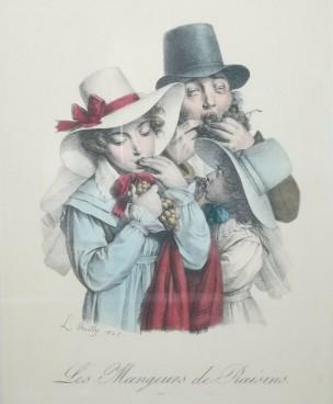 Boilly 1825 Les mangeurs de raisins Les grimaces