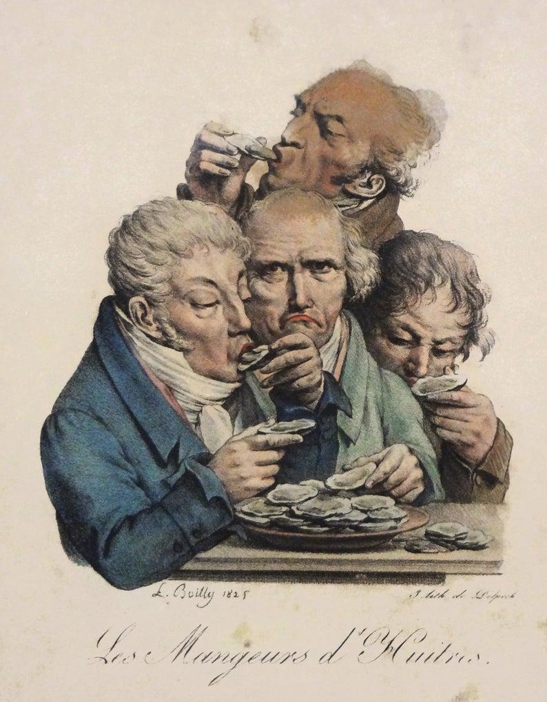 Boilly 1825 Les mangeurs d'huitres Les grimaces