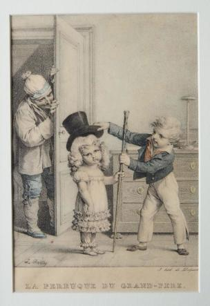 Boilly 1825 ca La perruque du Grand pere litho de Delpech