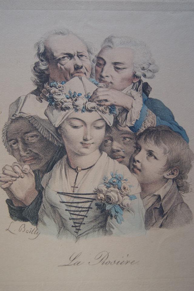 Boilly 1825 ca La rosiere Les grimaces