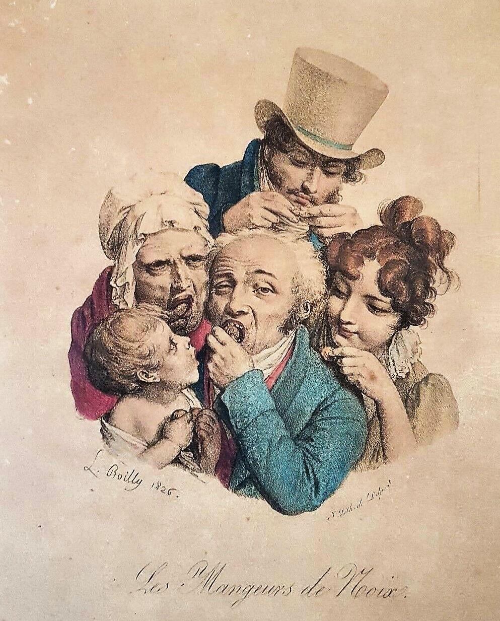 Boilly 1826 Les mangeurs de noix Les grimaces