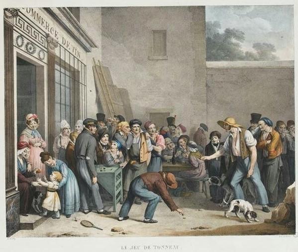 Boilly 1828 Le jeu de tonneau