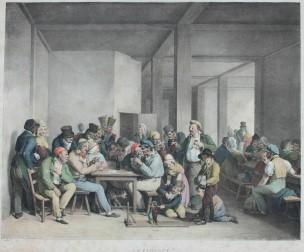 Boilly 1828 L'interieur d'un cabaret