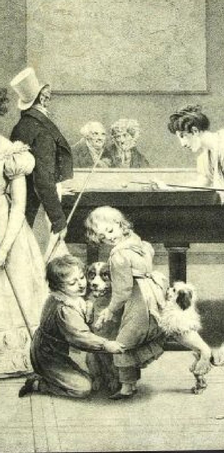 Boilly 1828a Le jeu de billard detail