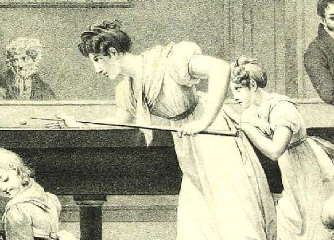 Boilly 1828a Le jeu de billard femme