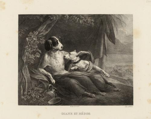 Boilly 1829 Diane et Medor Musee Carnavalet