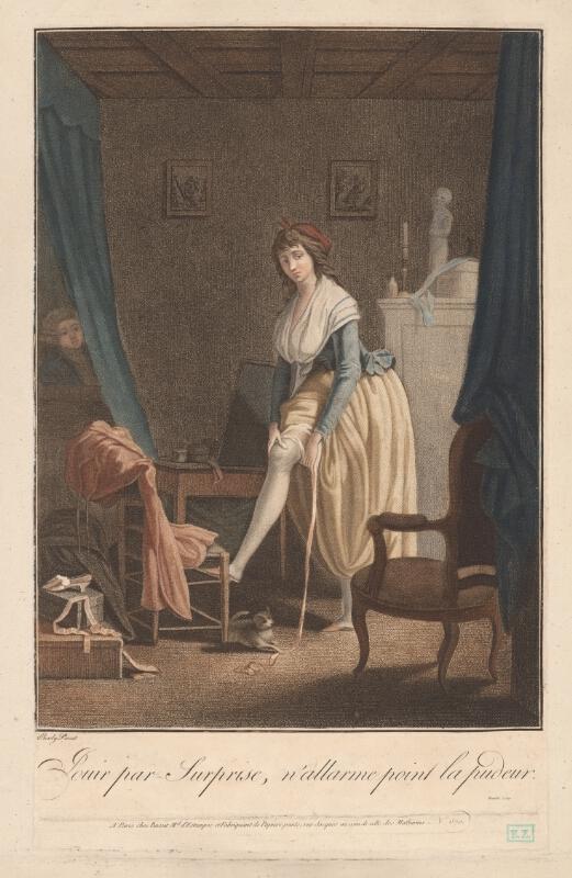 Boilly Jouir par surprise n'alarme pas la pudeur gravure de Beauble
