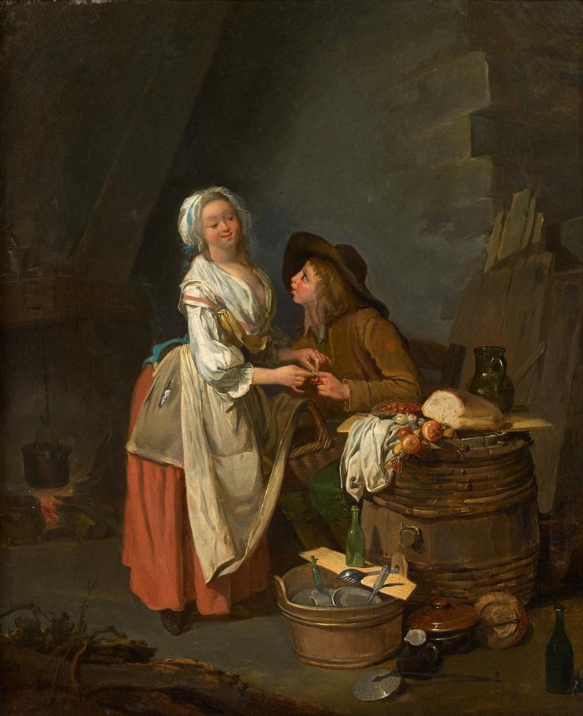 Boilly Le jeune commissionnaire et la cuisiniere Coll priv