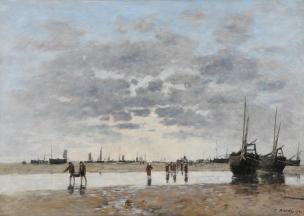 Boudin 1890 Berck le retour des barques Musee des Beaux-Arts de Reims