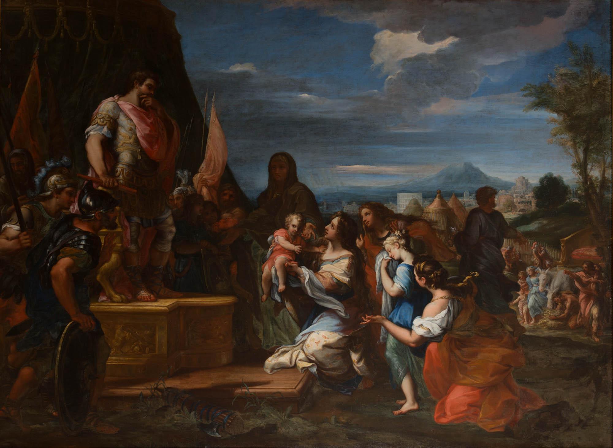 Chiari Giuseppe Bartolomeo avant 1687 Verturia and Volumnia before Coriolanus,Burghley House