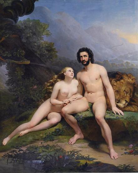 Claude-Marie Dubufe 1827 Adam et Eve Musee des Beaux-Arts Nantes