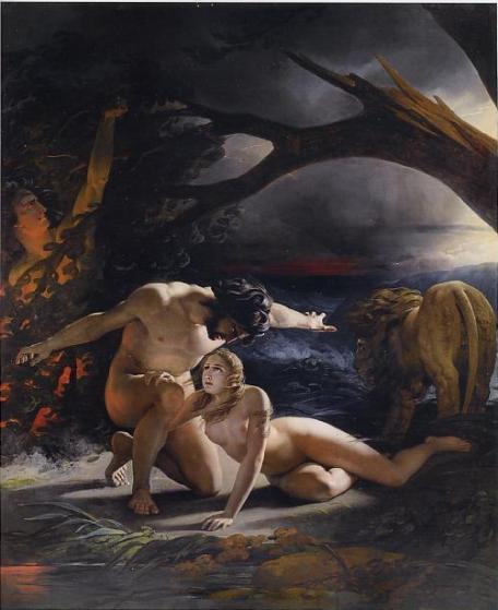 Claude-Marie Dubufe 1827 Le Paradis perdu Musee des Beaux-Arts Nantes