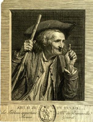 Danloux Ah Si je te tenois 1784. gravure de Beljambe