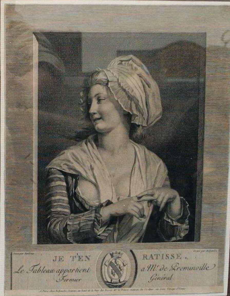 Danloux Je t'en ratisse 1784. gravure de Beljambe