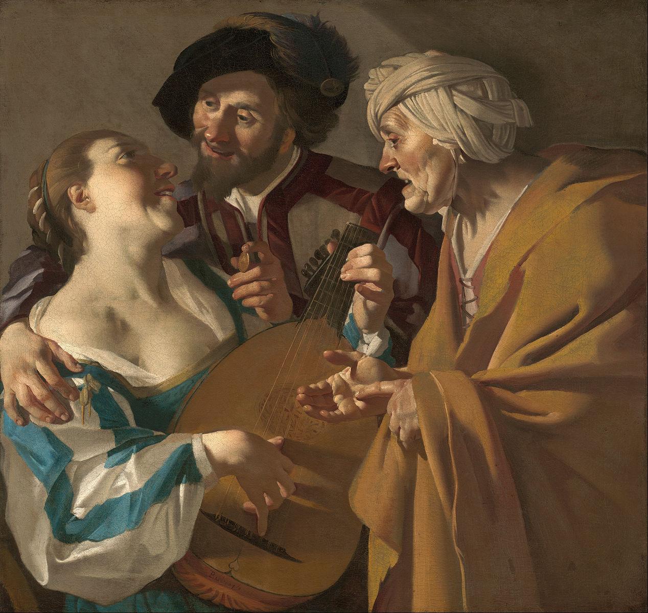 Dirck_van_Baburen 1622 L'entremetteuse ( The Procuress) musee des Beaux-Arts de Boston