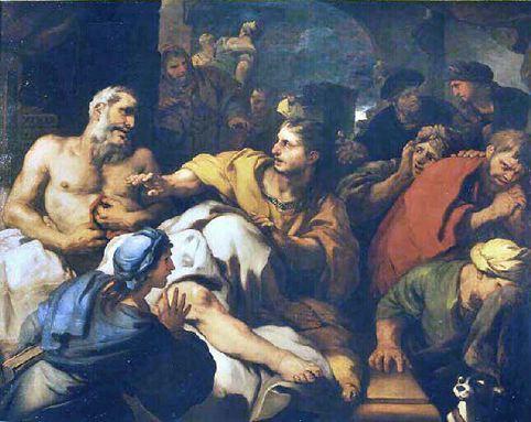 Giordano Mort de Caton Musee de CHambery