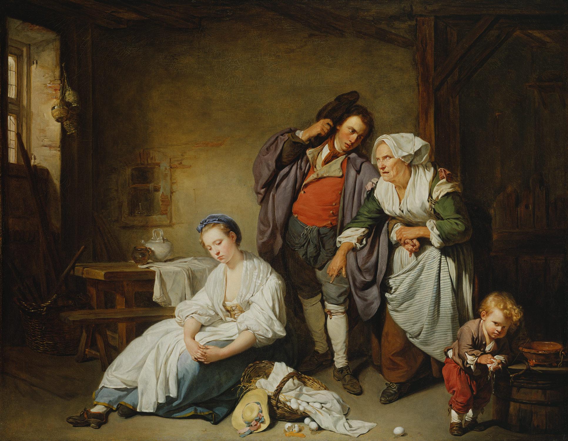 Greuze 1757 Les oeufs casses - MET
