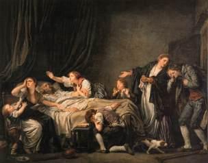 Greuze La malediction paternelle 1778 Le fils puni Louvre