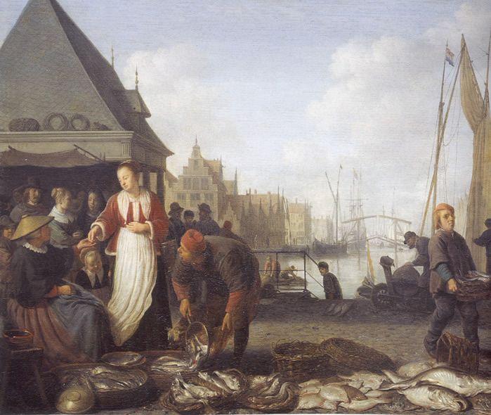Hendrick Sorgh 1654 THE FISHMARKET Gemaldemuseum Kassel