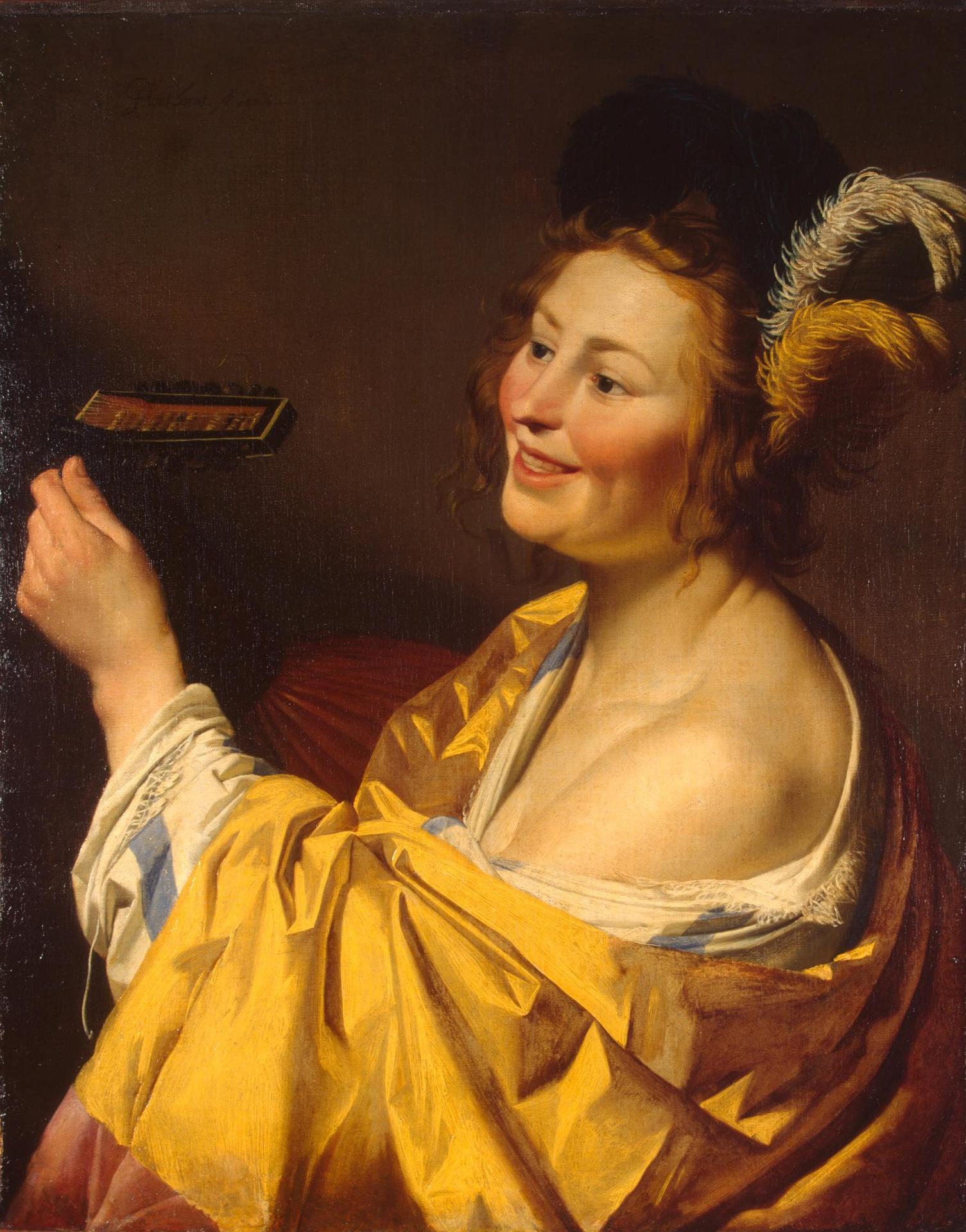Honthorst 1624 La joueuse de Luth Ermitage
