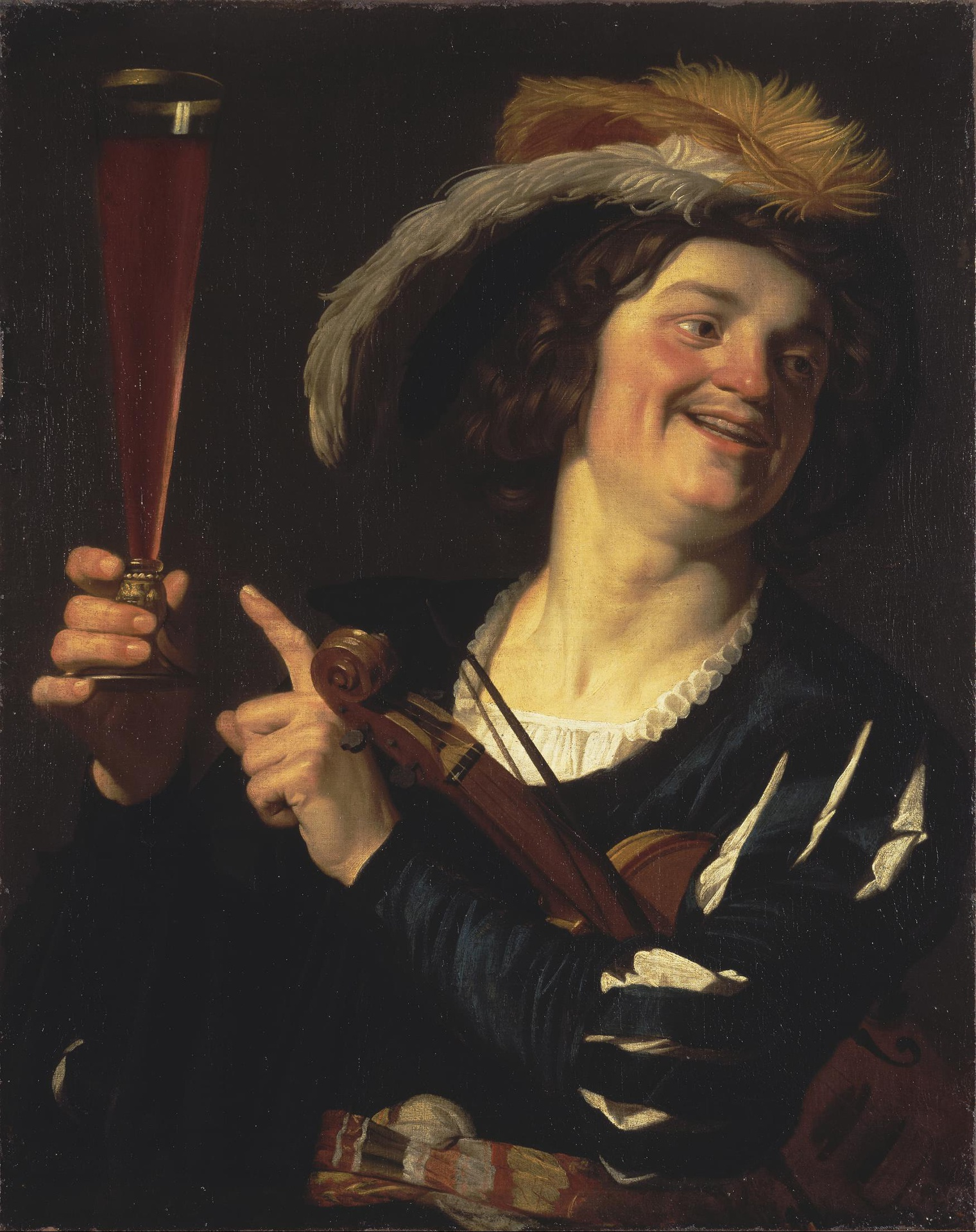Honthorst 1624 Le joyeux convive Ermitage