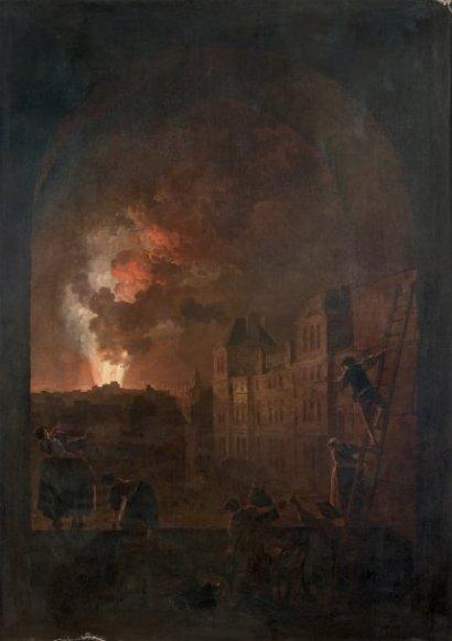 Hubert_Robert_L incendie de l Opera. Interieur de la salle le lendemain de l incendie_1781