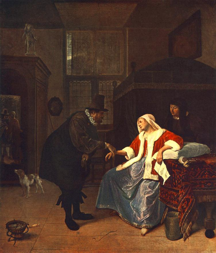 Jan_Steen 1660 Love_Sickness_-_WGA21717