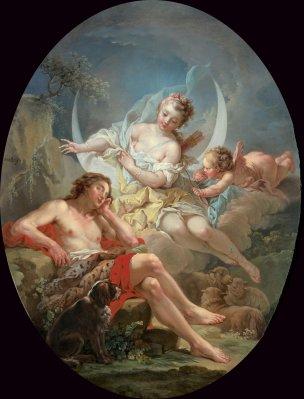 Le Mettay vers 1757 Selene et Endymion coll part