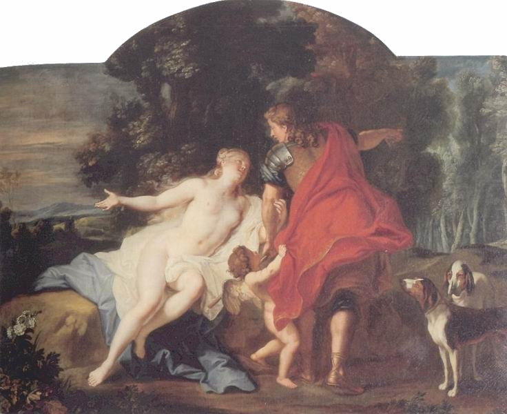 Louis de Silvestre 1722 avant A2 Venus et Adonis dessus de porte de la salle du trone d'Auguste II Gemaldegalerie Dresde