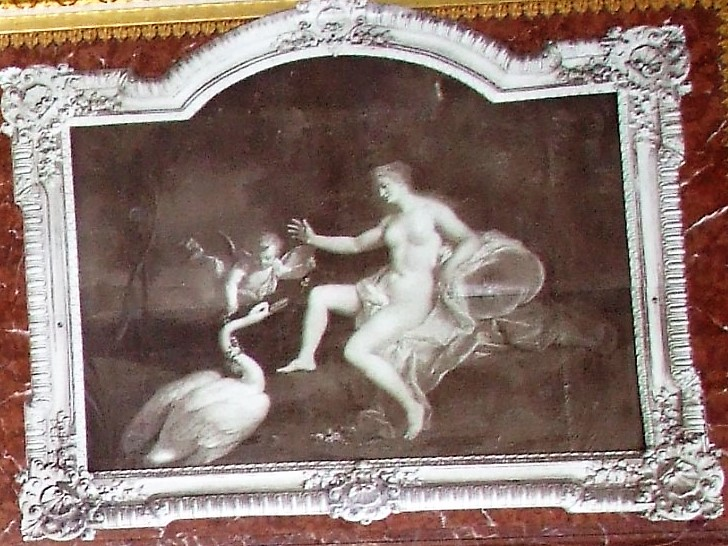 Louis de Silvestre 1722 avant B2 Leda et le cygne dessus de porte de la salle du trone d'Auguste II Gemaldegalerie Dresde