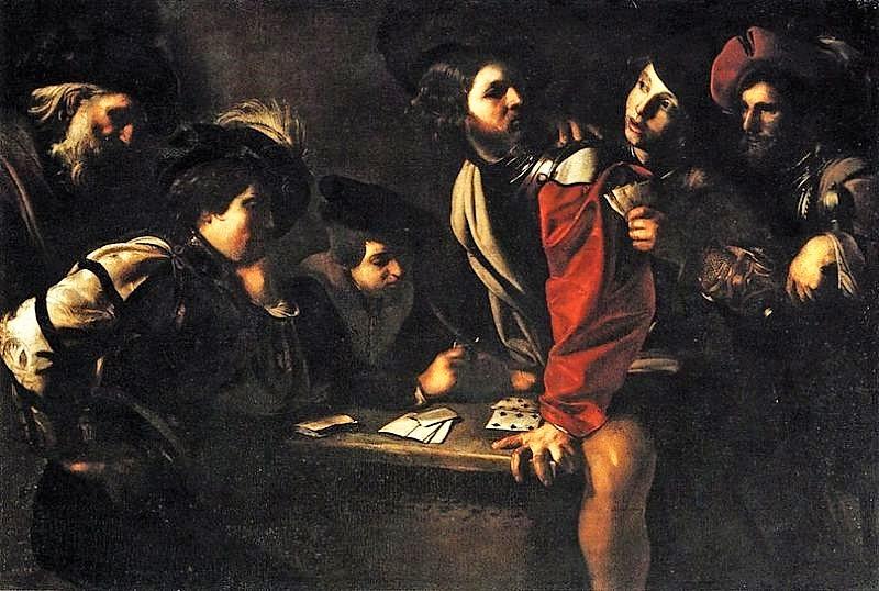 Manfredi 1614-16 Soldats jouant aux cartes Florence