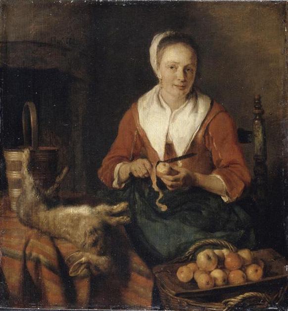 Metsu 1655-57 La peleuse de pommes Louvre