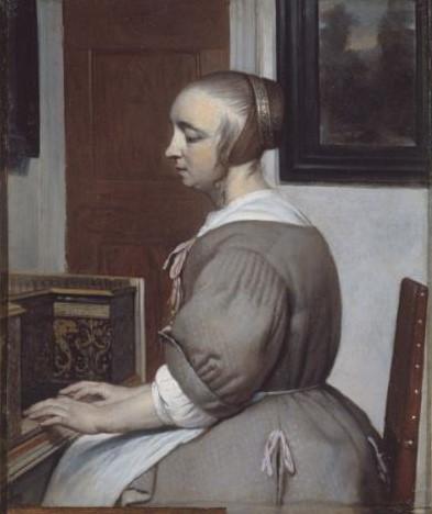 Metsu 1664-66 Femme au Virginal Petit Palais