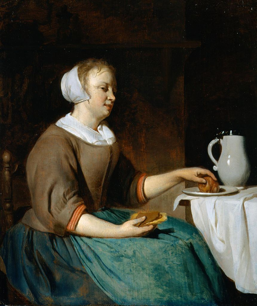 Metsu 1664-66 Femme dejeunant coll priv