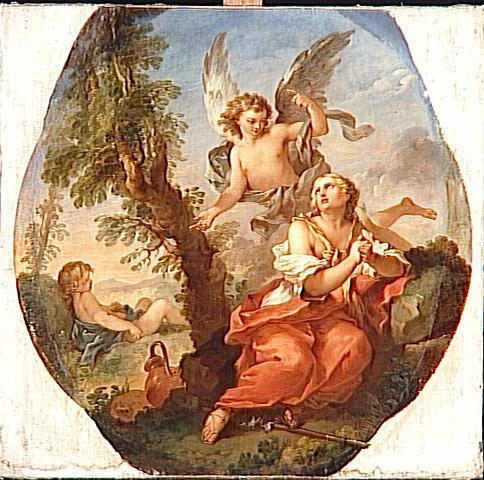 Natoire 1722 Agar et Ismael dans le desert Louvre