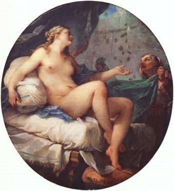 Natoire 1731 ca AA Danae et la pluie d'or Troyes, Musee des Beaux-Arts