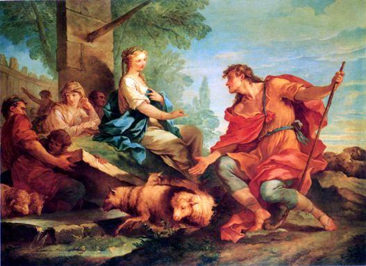 Natoire 1732 La Rencontre de Jacob et de Rachel au puits coll priv