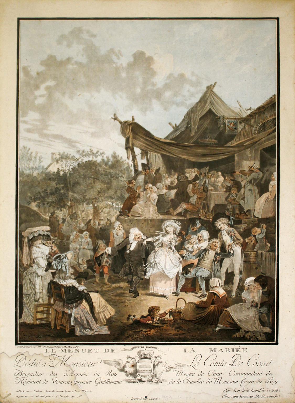 PHILIBERT-LOUIS DEBUCOURT 1789 Le menuet de la mariee