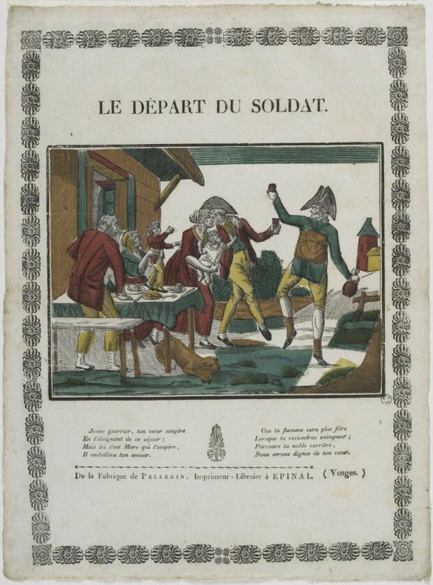 Pellerin 1800-1815 Le depart du soldat MUCEM
