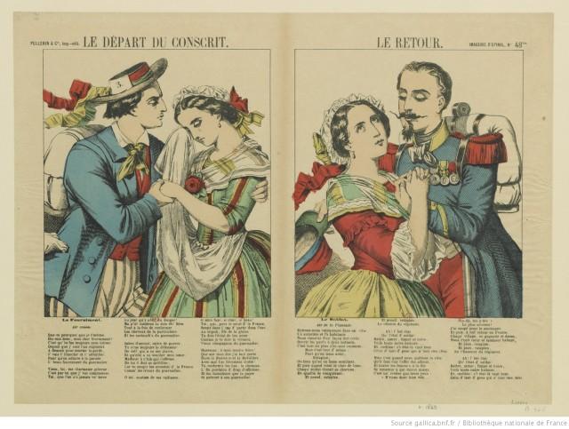 Pellerin 1869 Le depart et le retour du