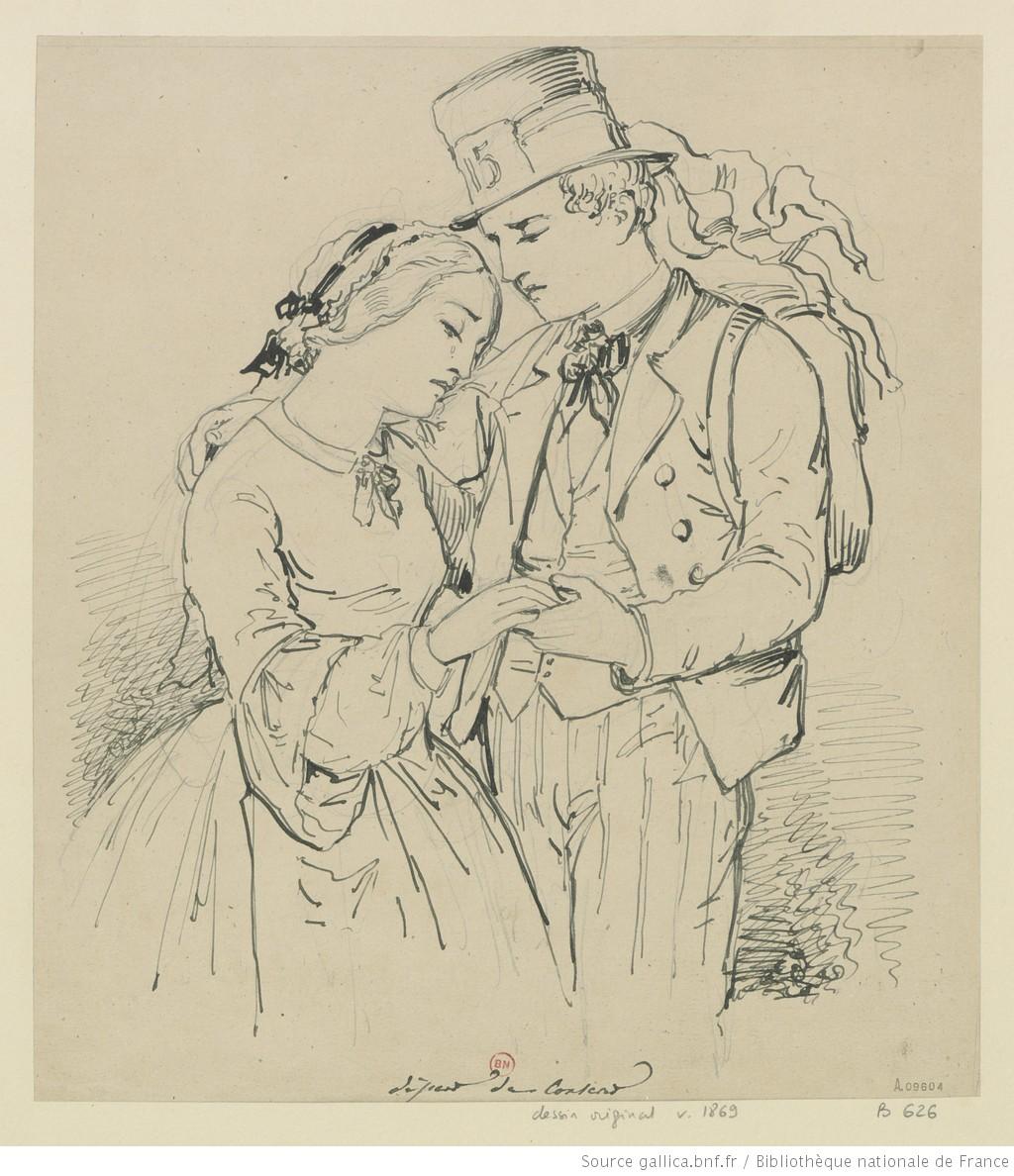 Pellerin 1869 Le_depart_du_conscrit dessin Gallica