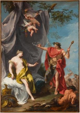 Pittoni 1730-32 Bacchus_and_Ariadne Staatsgalerie Stuttgart 71.3 cm x 50 cm