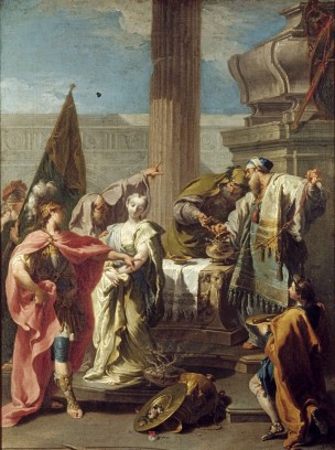 Pittoni 1730-32 The_Sacrifice_of_Polyxena_at_the_Tomb_of_Achilles walters art gallery Baltimore 70 × 52 cm