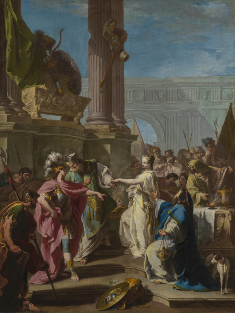 Pittoni 1733–1734 The Sacrifice of Polyxena 126.7 × 95.6 cm The J. Paul Getty Museum, Los Angeles