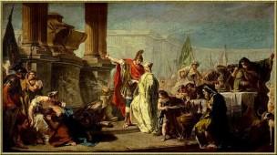 Pittoni 1733-35 Polyxene sacrifiee aux mannes d'Achille Louvre