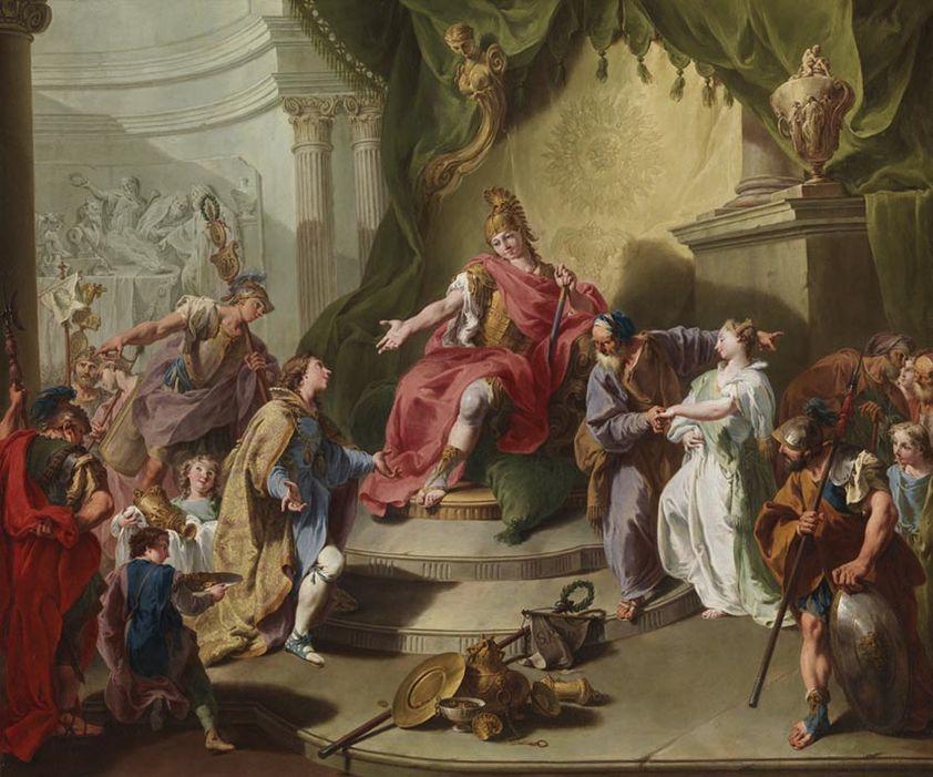 Pittoni 1737 ca continence de Scipion Staatsgalerie Wurzburg,