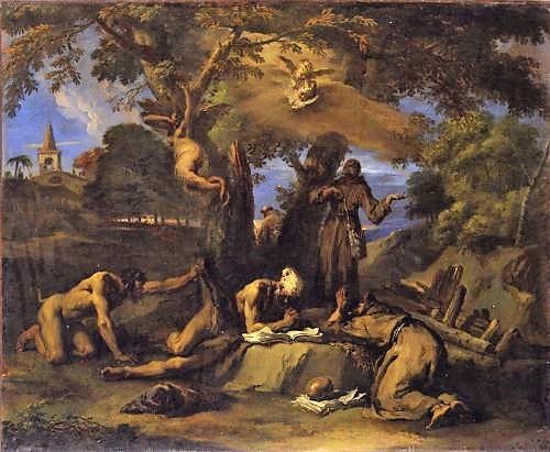 Ricci 1700-25 Ermites tourmentes par des démons Musee Epinal