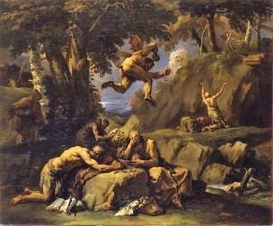 Ricci 1700-25 Ermites tourmentes par le diable Musee Epinal