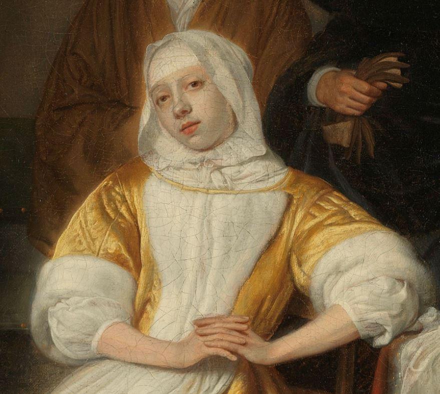 Samuel van Hoogstraten, 1660 - 1678 The Anemic Lady Rikjsmuseum detail femme