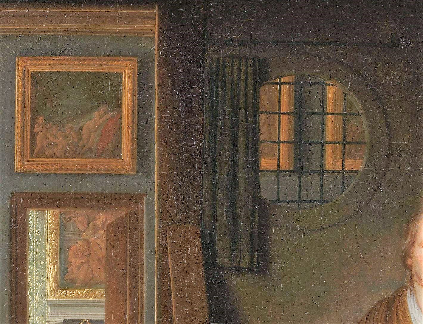 Samuel van Hoogstraten, 1660 - 1678 The Anemic Lady Rikjsmuseum detail tableaux